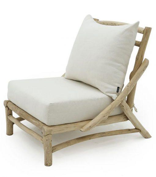 Aksa 1 seater teak branch furniture