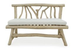 Dresden bench teak branch furniture
