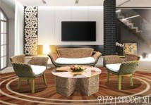 Vietnam living room rattan furniture sets