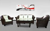 Malaysia living room rattan furniture sets