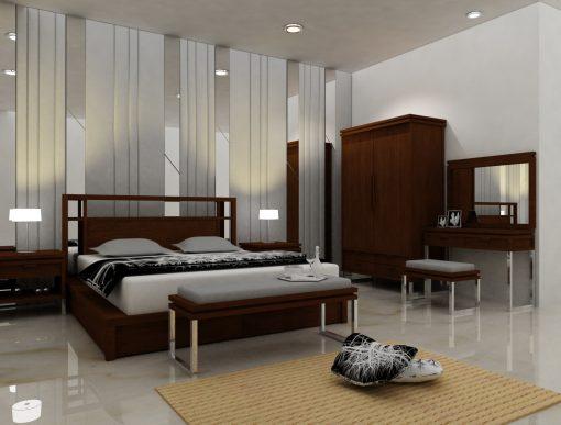 Sumatera wooden bedroom set