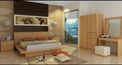 Borneo wooden bed set