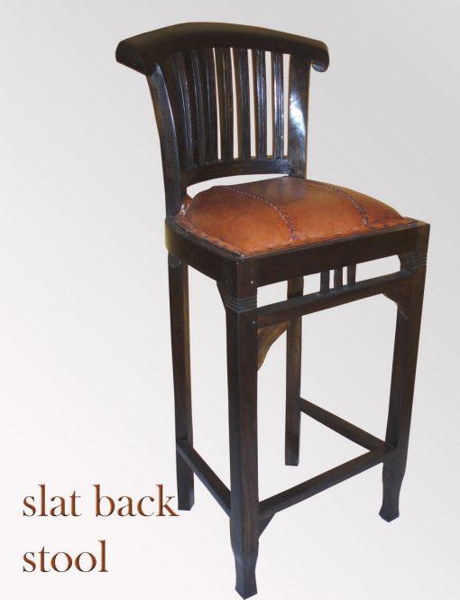 Slat Back barstool furniture