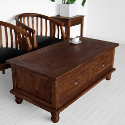 Zagreb square cofee table with 4 drawer