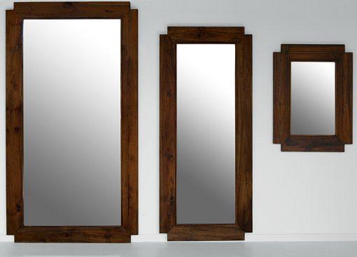 teak mirror set