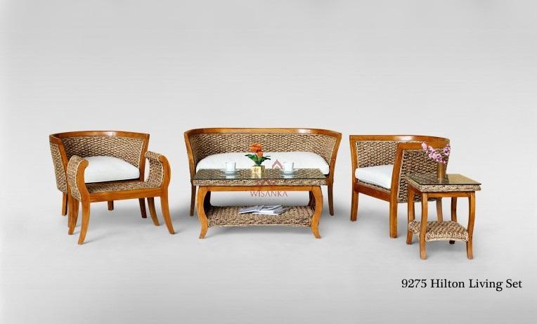 Hilton wicker rattan living set living room furniture - Hilton furniture living room sets ...