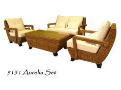 Aurelia rattan living set
