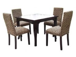 Monica Seagrass rattan dining set