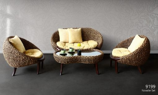 Noodie rattan living set
