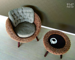 Pearl rattan living set