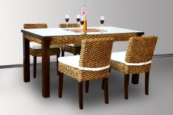 Alicia rattan dining set