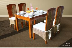 Palm rattan dining set