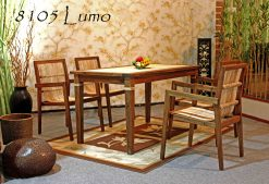 Lumo rattan dining set