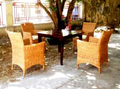 Feroza rattan dining set