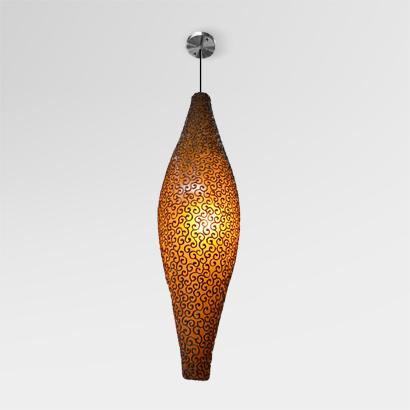 Peach Pola Hanging Lamp