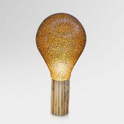Pola Bohlamp Floor Lamp with Teak Base