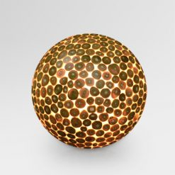 Teak Ball Outdoor Lamp Large