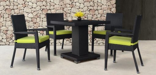 Adrian Synthetic rattan dining set