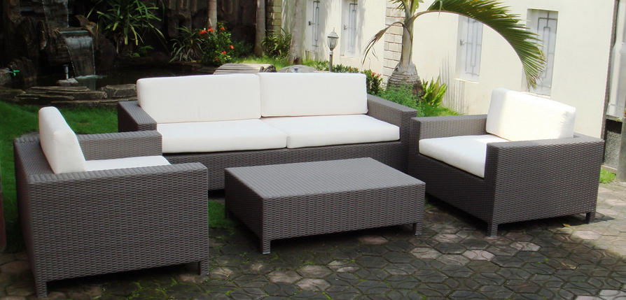 Amsterdam Synthetic Rattan Living Set