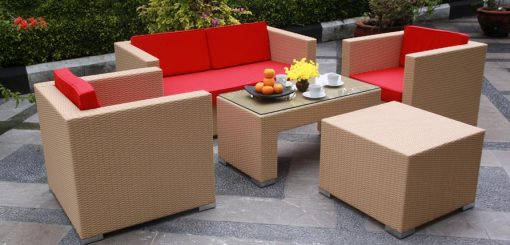 Benetton synthetic rattan living set