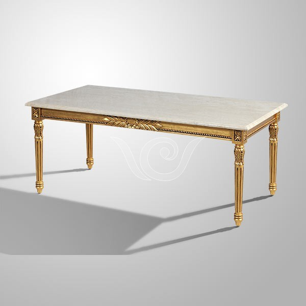 Marble Coffee Table Indonesia: Hannah Coffee Table Marble Top , Living Room Furniture