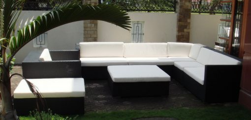 Inspiro synthetic rattan living set