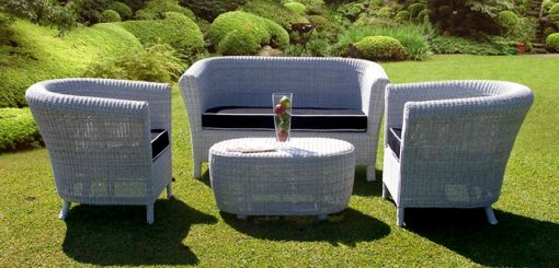 Merbabu synthetic rattan living set