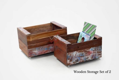 Wooden Storage Box Set of 2