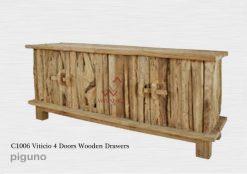 Viticio 4 Doors Wooden Drawer