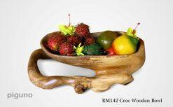 Croc Wooden Bowl