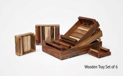 Wooden Tray Set of 6